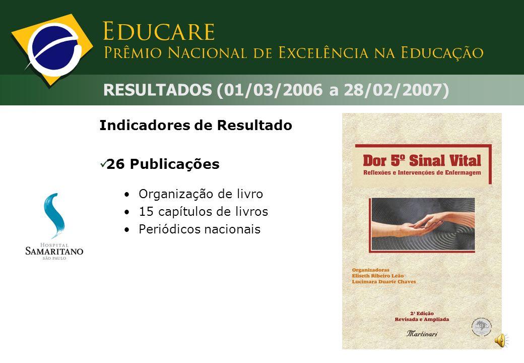 Indicadores de Resultados Organizacionais: Diagnóstico de enfermagem para todos os pacientes internados: melhoria do processo de sistematização da ass