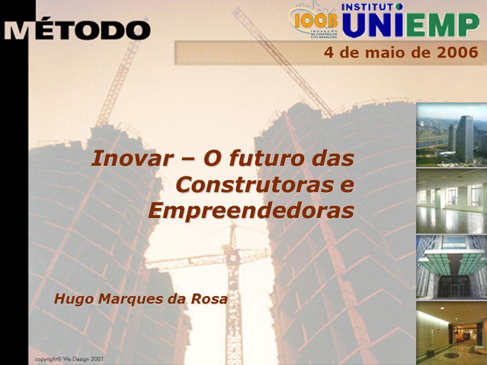 4 de maio de 2006 Hugo Marques da Rosa Inovar – O futuro das Construtoras e Empreendedoras