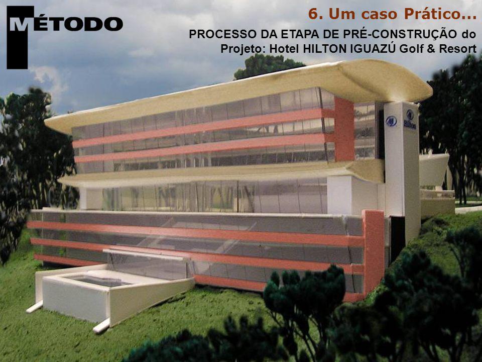 PROCESSO DA ETAPA DE PRÉ-CONSTRUÇÃO do Projeto: Hotel HILTON IGUAZÚ Golf & Resort 6.