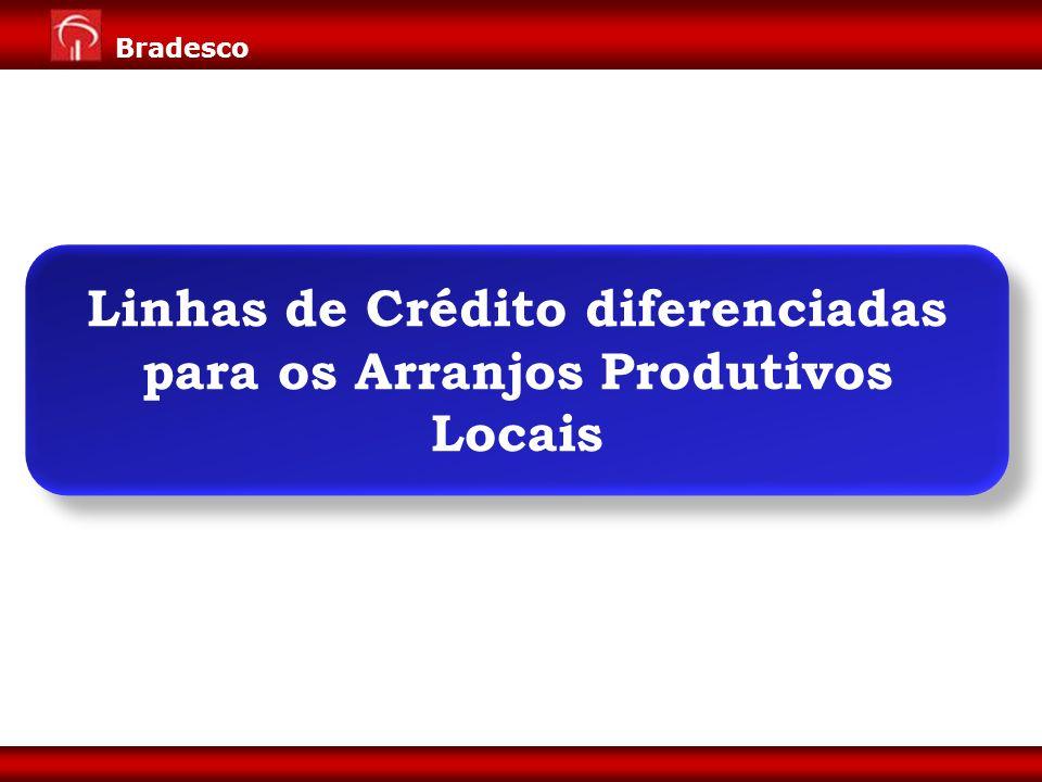 Expansão de Negócios para Varejo Diretoria de Pessoa Jurídica 13 Bradesco Linhas de Crédito diferenciadas para os Arranjos Produtivos Locais
