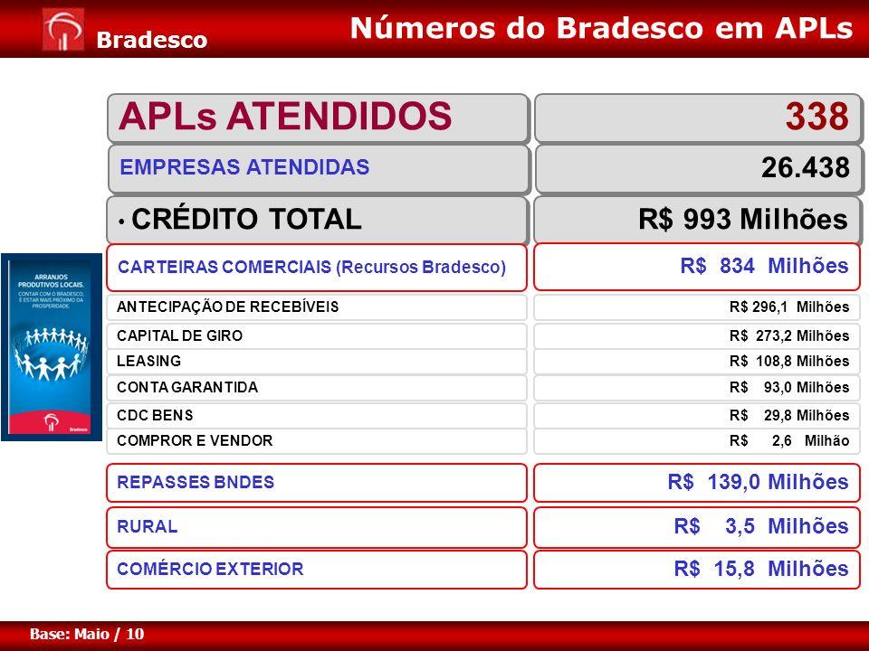 Expansão de Negócios para Varejo Diretoria de Pessoa Jurídica 5 Bradesco Base: Maio / 10 CRÉDITO TOTAL R$ 993 Milhões REPASSES BNDES R$ 139,0 Milhões