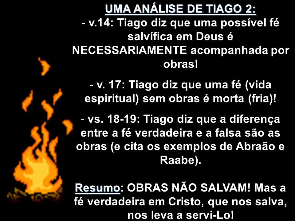 UMA PROPOSTA FINAL: 1) Para o reaquecimento de sua vida espiritual é necessário aquecê-la com o combustível das obras (Tiago 2:26) 2) Aonde e como você pode ser útil nesta seara.