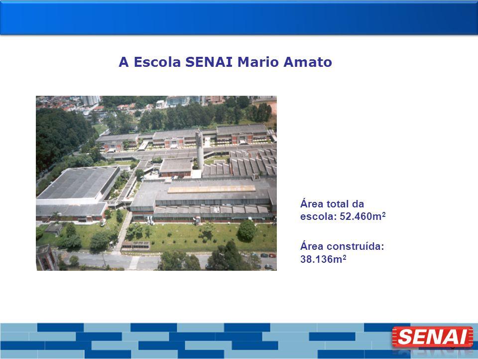 3 Área total da escola: 52.460m 2 Área construída: 38.136m 2 A Escola SENAI Mario Amato