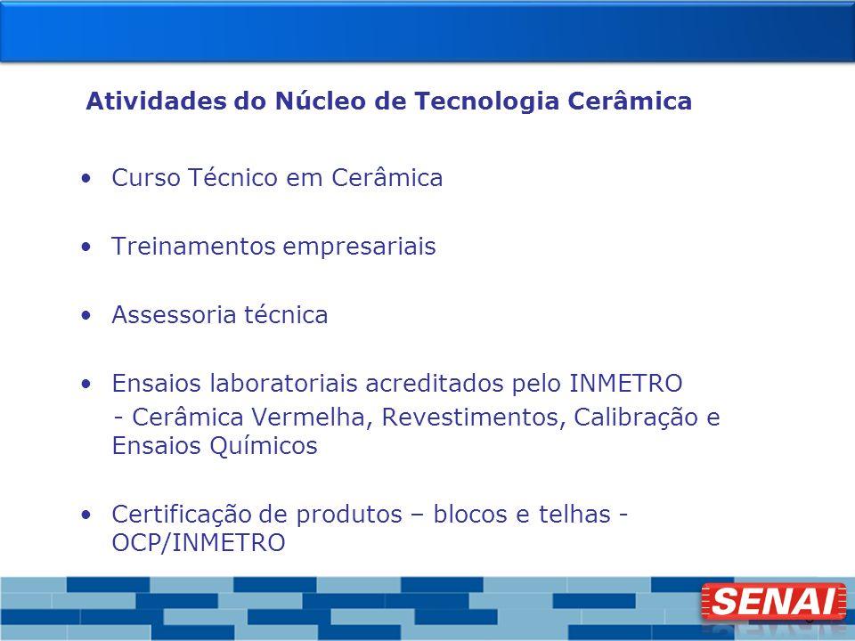 5 Atividades do Núcleo de Tecnologia Cerâmica Curso Técnico em Cerâmica Treinamentos empresariais Assessoria técnica Ensaios laboratoriais acreditados
