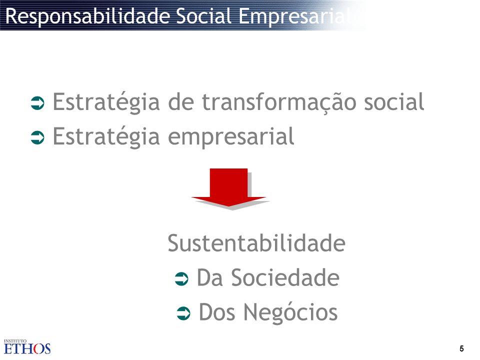 5 Responsabilidade Social Empresarial Estratégia de transformação social Estratégia empresarial Sustentabilidade Da Sociedade Dos Negócios