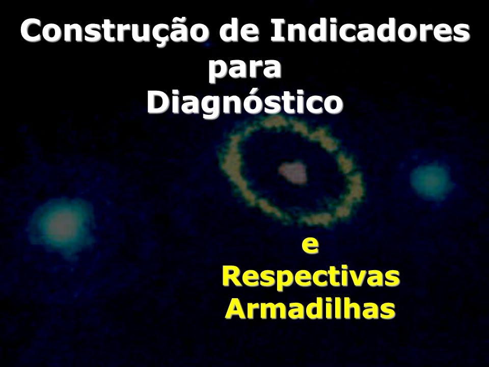 Construção de Indicadores para Diagnóstico eRespectivasArmadilhas
