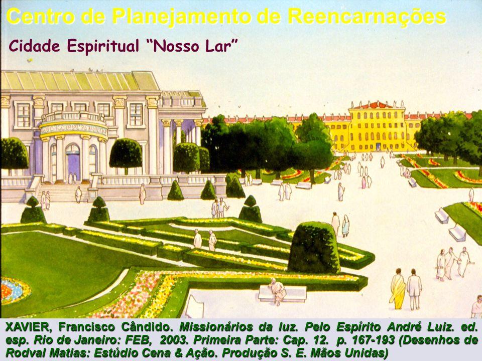 Cidade Espiritual Nosso Lar Centro de Planejamento de Reencarnações XAVIER, Francisco Cândido.