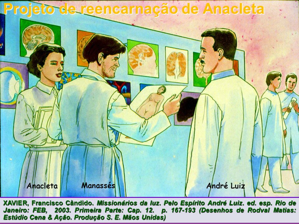 AnacletaAndré Luiz Manassés Projeto de reencarnação de Anacleta XAVIER, Francisco Cândido.