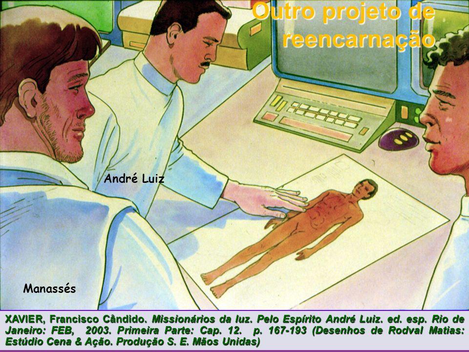 André Luiz Manassés Outro projeto de reencarnação XAVIER, Francisco Cândido.