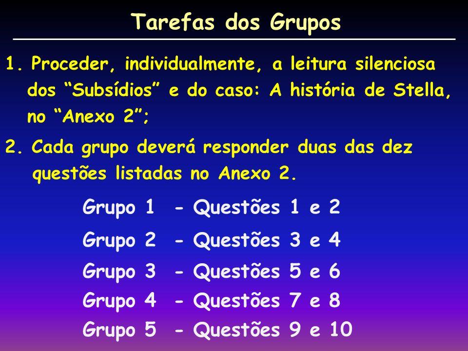 Tarefas dos Grupos 1.