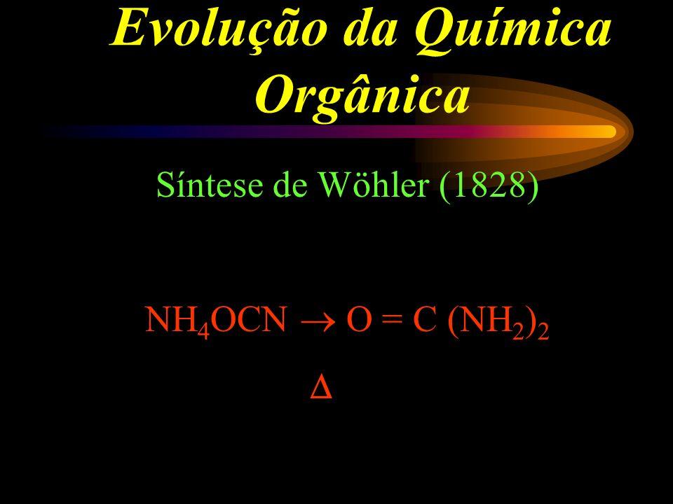 Evoluçaõ da Química Orgânica Berzélius início do século XIX - Teoria da Força Vital