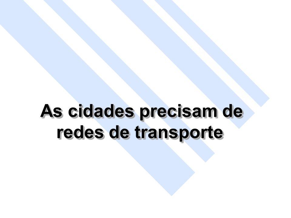 As cidades precisam de As cidades precisam de redes de transporte As cidades precisam de As cidades precisam de redes de transporte