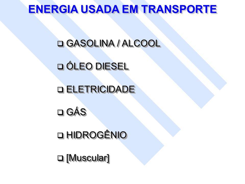GASOLINA / ALCOOL GASOLINA / ALCOOL ÓLEO DIESEL ÓLEO DIESEL ELETRICIDADE ELETRICIDADE GÁS GÁS HIDROGÊNIO HIDROGÊNIO [Muscular] [Muscular] GASOLINA / A