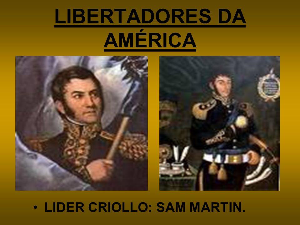 LIBERTADORES DA AMÉRICA LIDER CRIOLLO: SAM MARTIN.