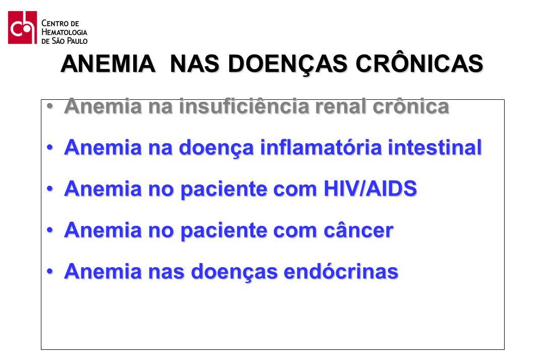 Anemia na insuficiência renal crônicaAnemia na insuficiência renal crônica Anemia na doença inflamatória intestinalAnemia na doença inflamatória intes