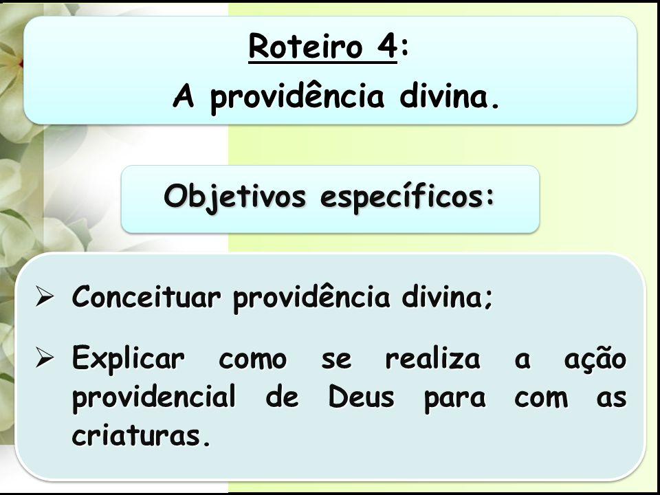 Roteiro 4: A providência divina.A providência divina.