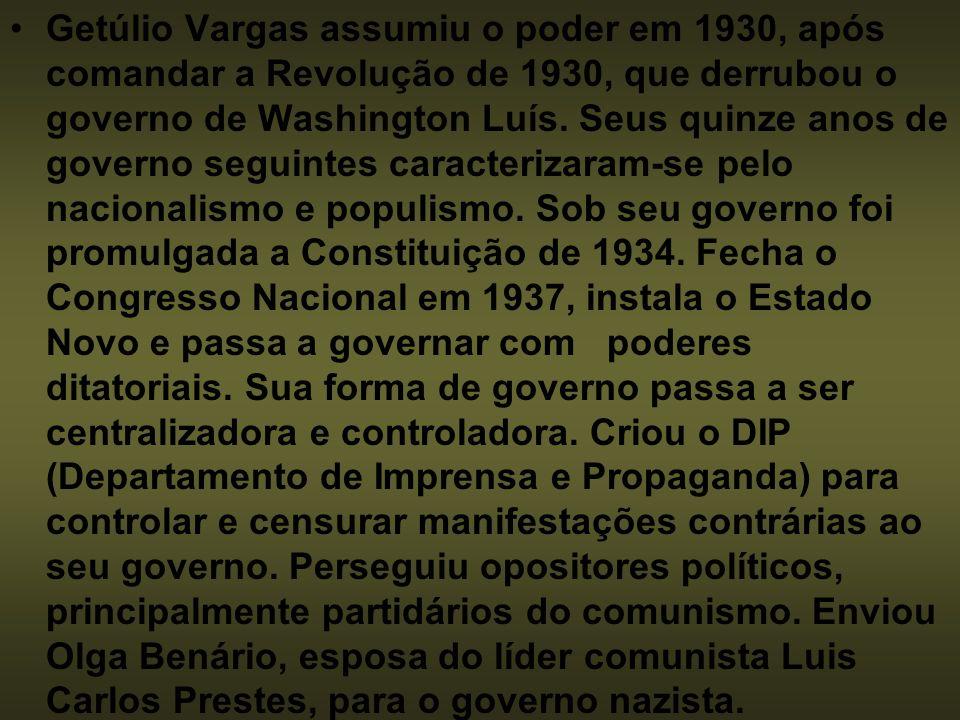 REVOLUÇÃO DE 30 Efeitos da crise de 1929.