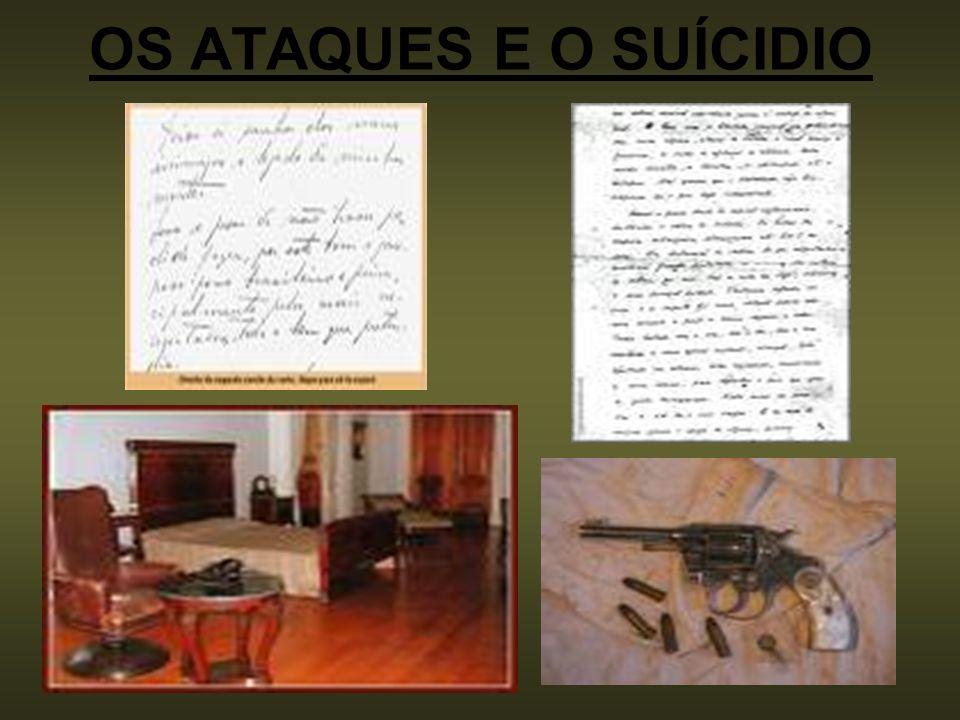 O suicídio de Vargas Em agosto de 1954, Vargas suicidou-se no Palácio do Catete com um tiro no peito.
