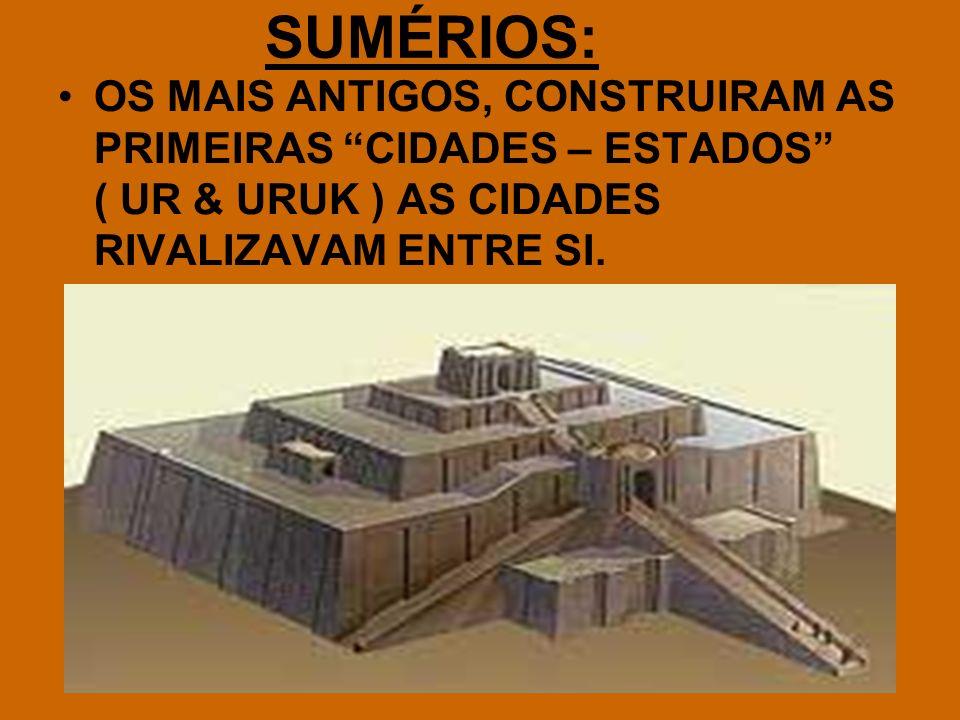 PRIMEIRA FORMA DE ESCRITA: CUNEIFORME