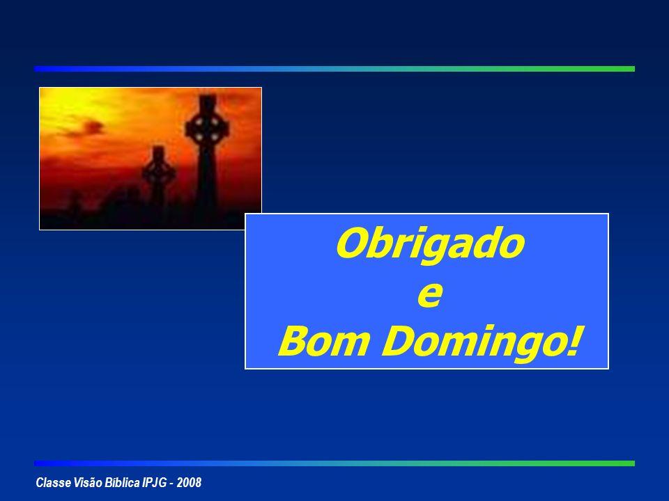 Classe Visão Bíblica IPJG - 2008 Obrigado e Bom Domingo!