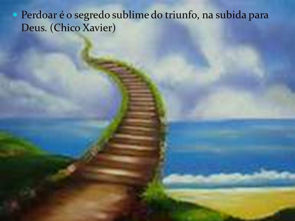 Perdoar é o segredo sublime do triunfo, na subida para Deus. (Chico Xavier) 55