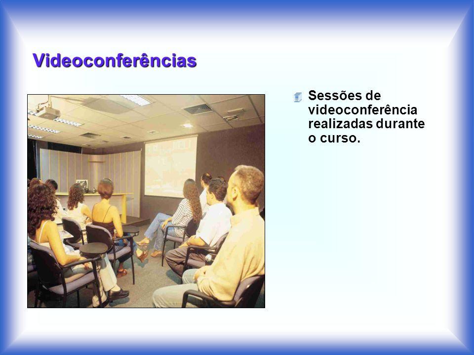 Videoconferências 4 Sessões de videoconferência realizadas durante o curso.