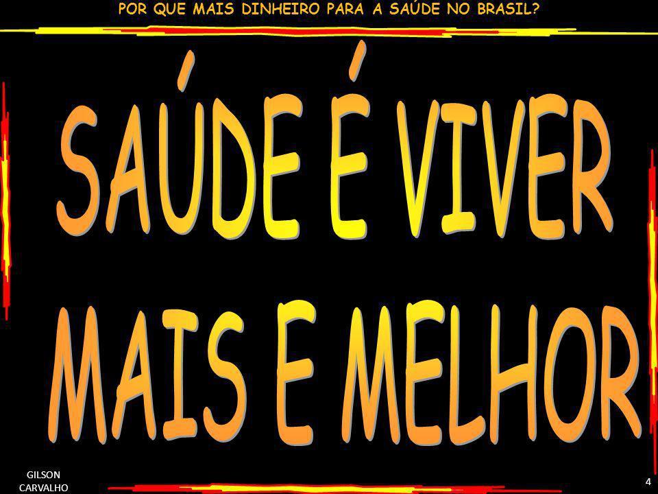 POR QUE MAIS DINHEIRO PARA A SAÚDE NO BRASIL? GILSON CARVALHO 4