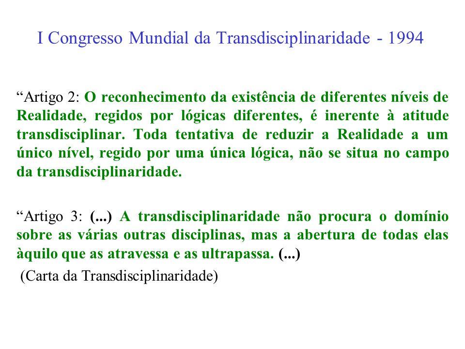 Congresso Ciência e Tradição: Perspectivas Transdisciplinares para o século XXI 3. Uma das revoluções conceituais deste século veio, paradoxalmente, d