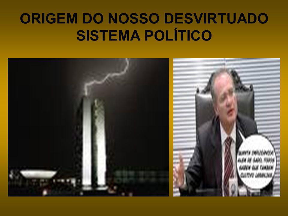 ORIGEM DO NOSSO DESVIRTUADO SISTEMA POLÍTICO