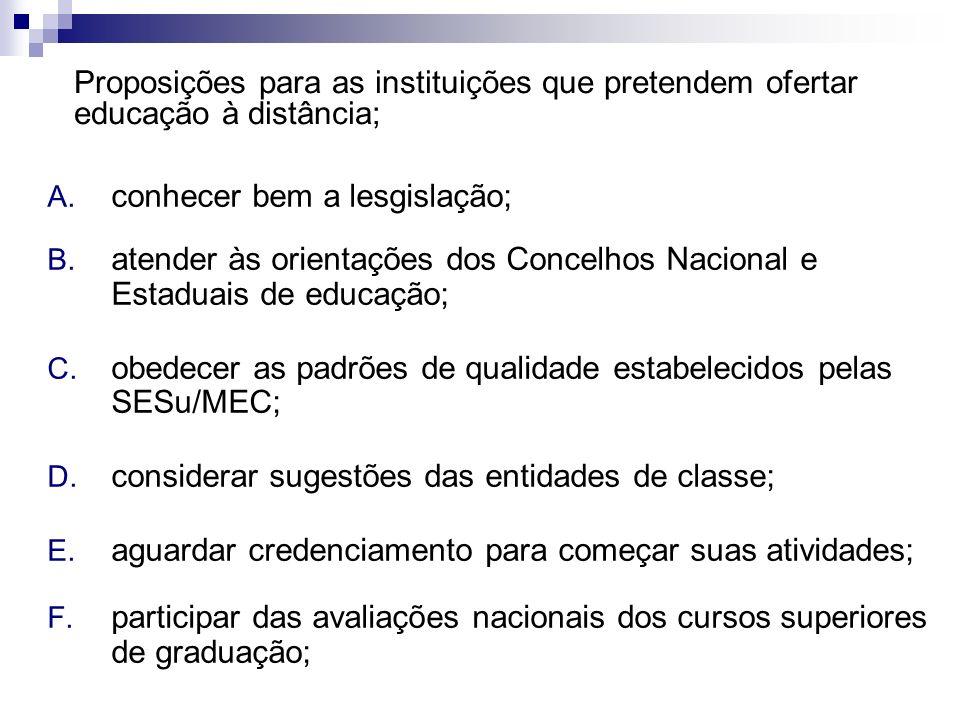 A. conhecer bem a lesgislação; B. atender às orientações dos Concelhos Nacional e Estaduais de educação; C. obedecer as padrões de qualidade estabelec