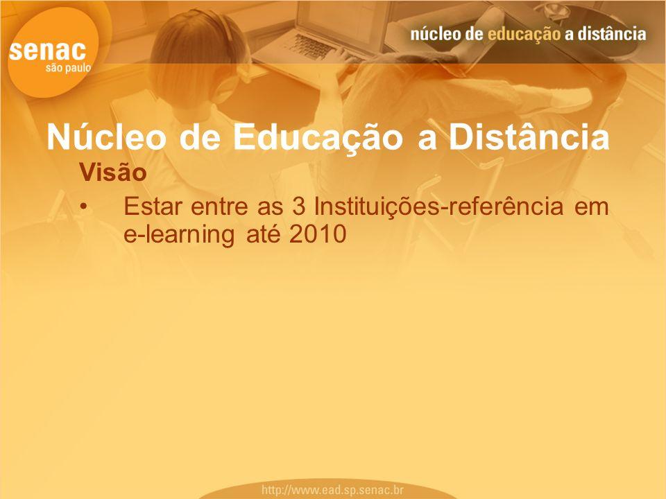 Núcleo de Educação a Distância Visão Estar entre as 3 Instituições-referência em e-learning até 2010