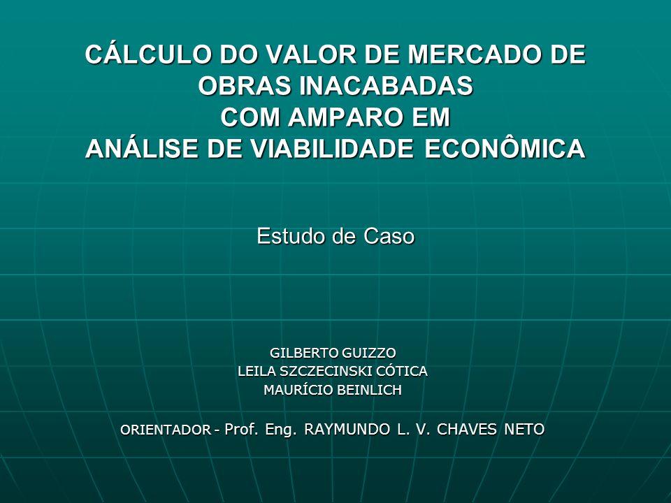 Objetivo Identificar o valor de mercado máximo de uma obra inacabada, utilizando para isto: - técnicas de avaliações de imóveis - e a avaliação econômica do empreendimento proposto que finaliza adequadamente a obra.