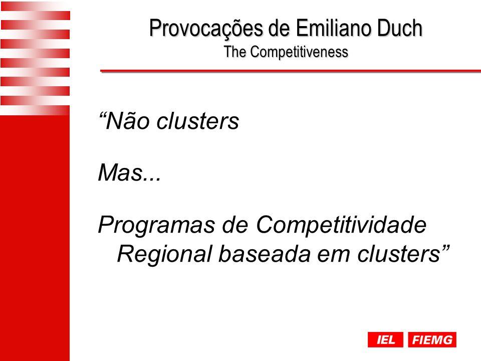 Provocações de Emiliano Duch The Competitiveness Não clusters Mas...