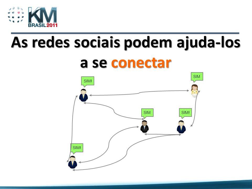 As redes sociais podem ajuda-los a se conectar SIM! SIM SIM! SIM