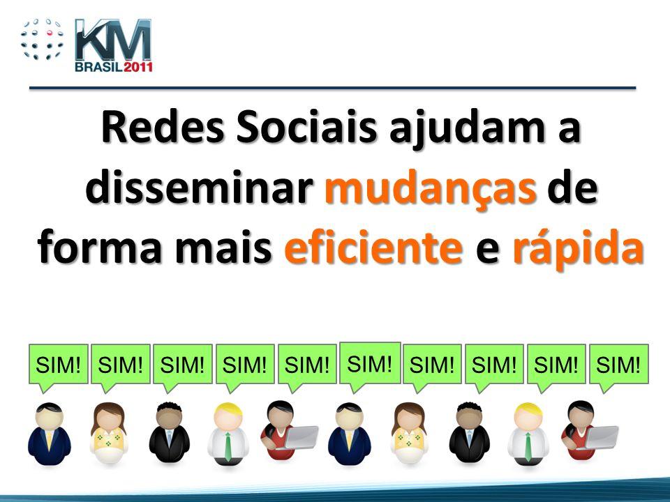 Redes Sociais ajudam a disseminar mudanças de forma mais eficiente e rápida SIM!