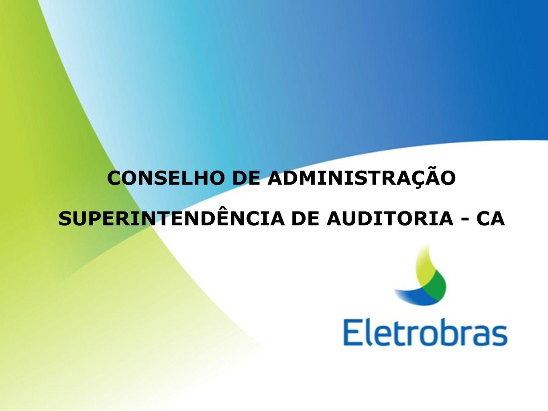 SUMÁRIO A CA NO ORGANOGRAMA DA ELETROBRAS FUNDAMENTAÇÃO NORMATIVA ESTRUTURA CA CAO - DEPTO.