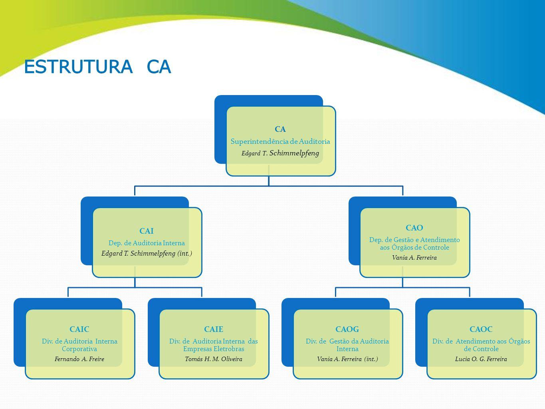 CA Superintendência de Auditoria Edgard T. Schimmelpfeng CAI Dep. de Auditoria Interna Edgard T. Schimmelpfeng (int.) CAIC Div. de Auditoria Interna C