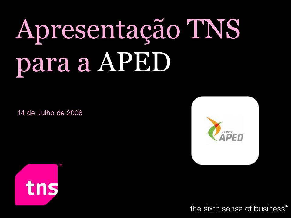 Apresentação TNS para a APED 14 de Julho de 2008