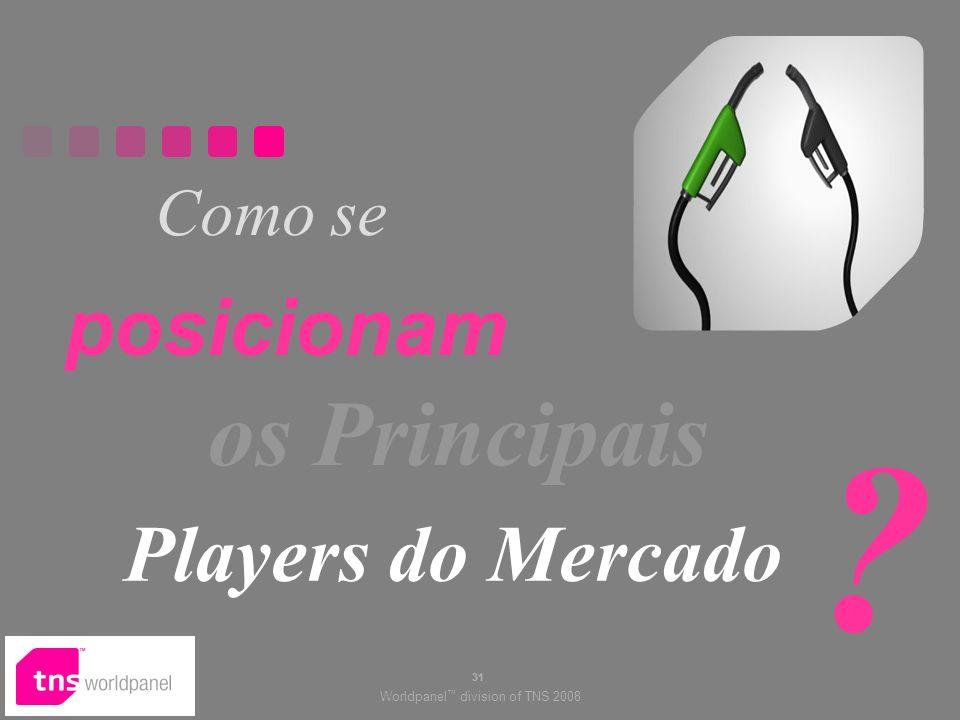 Worldpanel division of TNS 2008 31 Como se posicionam os Principais Players do Mercado ?