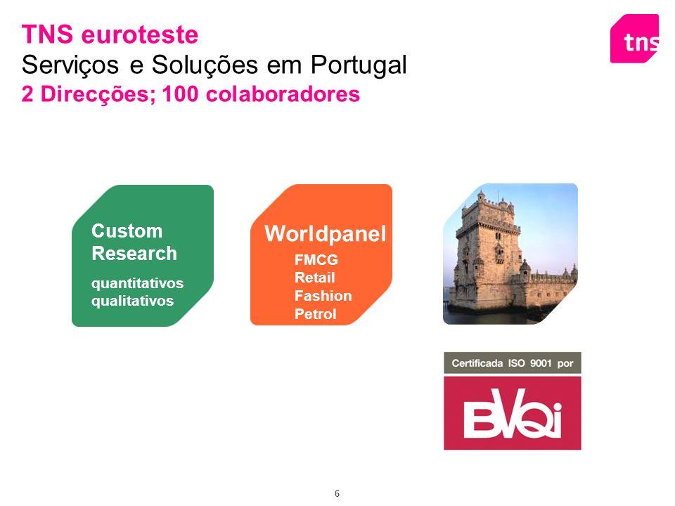 7 Sala para Focus Groups Técnicas Projectivas Inovadoras; Utilização de Capacidades Interactivas para Focus Groups; Entrevistas em Profundidade TNS Custom Research em Portugal Abordagem Quantitativa Soluções simples de Research ou Modelos State-of-Art Omnibus Mensal Capacidade própria de Recolha de Informação.