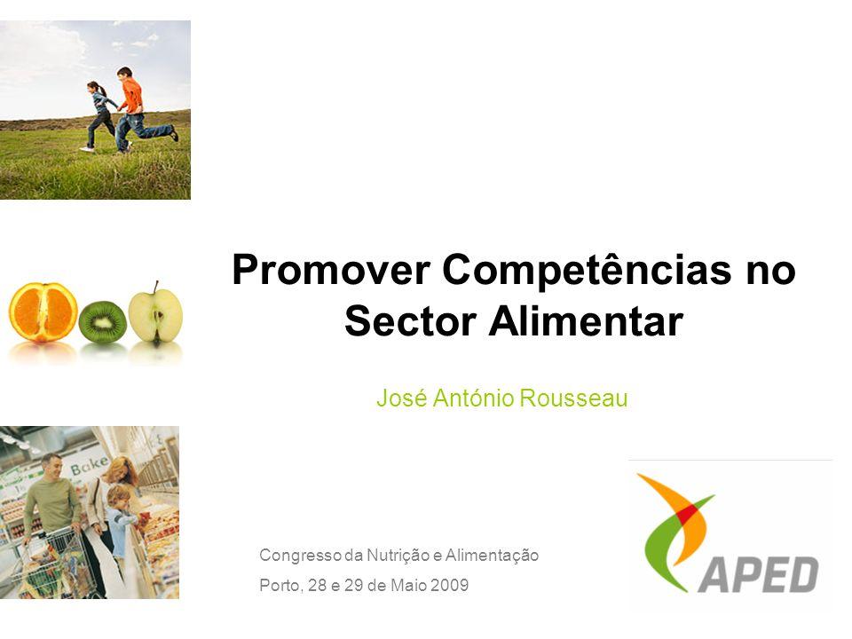 Promover Competências no Sector Alimentar José António Rousseau Congresso da Nutrição e Alimentação Porto, 28 e 29 de Maio 2009