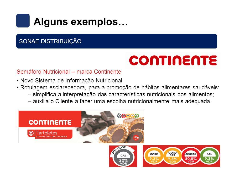 Semáforo Nutricional – marca Continente Novo Sistema de Informação Nutricional Rotulagem esclarecedora, para a promoção de hábitos alimentares saudáve
