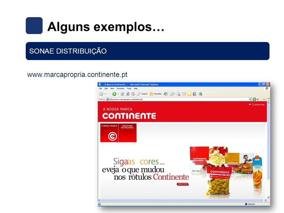 www.marcapropria.continente.pt Alguns exemplos… SONAE DISTRIBUIÇÃO