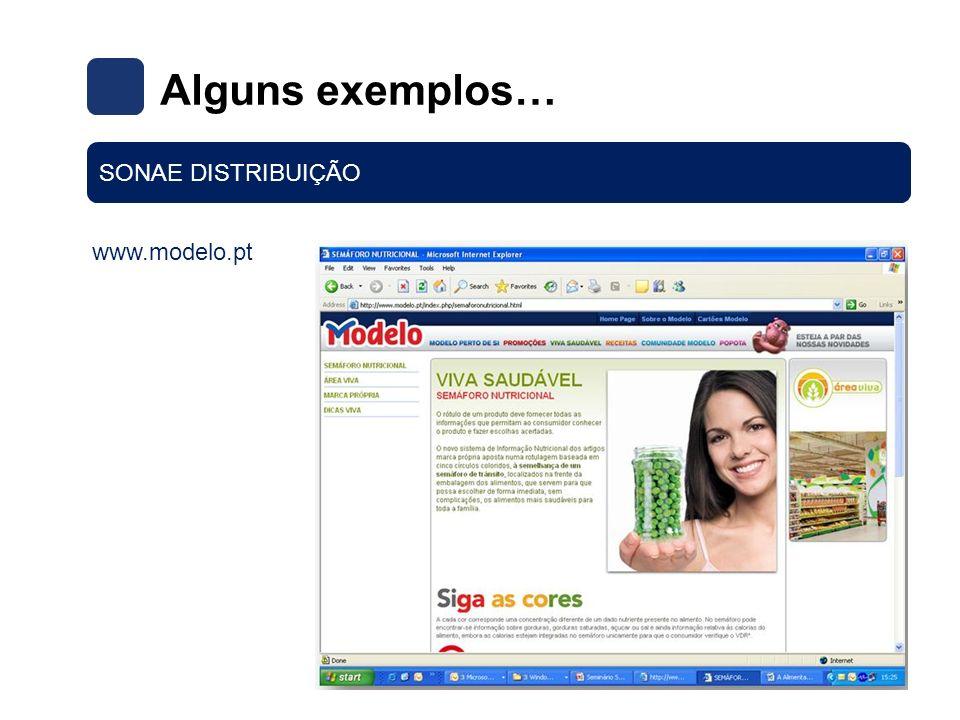 www.modelo.pt Alguns exemplos… SONAE DISTRIBUIÇÃO