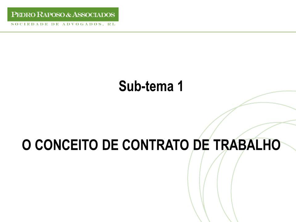 Noção de contrato de trabalho (Art.