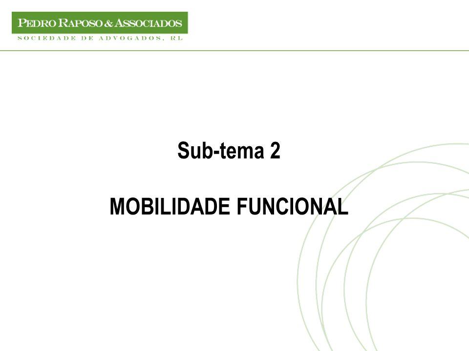Sub-tema 2 MOBILIDADE FUNCIONAL