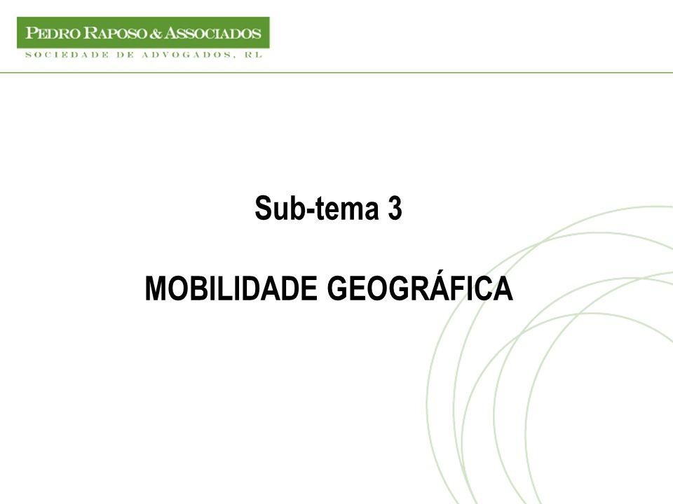 Sub-tema 3 MOBILIDADE GEOGRÁFICA