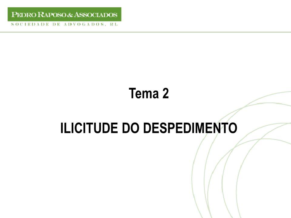 Tema 2 ILICITUDE DO DESPEDIMENTO