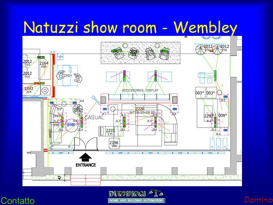 ContattoDomino Natuzzi show room - Wembley Montras, stand, Espaços de Exposição e Centro comercial. A exposição deve atrair a atenção dos potenciais C