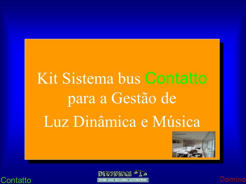 ContattoDomino Luz Dinâmica FUNCIONAMENTO: A TECLA 1 ACENDE(100%)/APAGA TUDO.